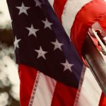 An American Flag up close